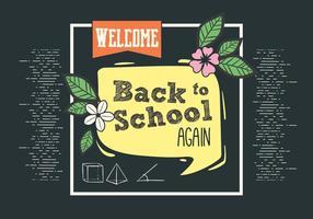 Typologie vectorielle gratuite Retour à l'école vecteur