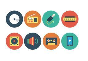 Ensemble d'icônes de musique gratuit