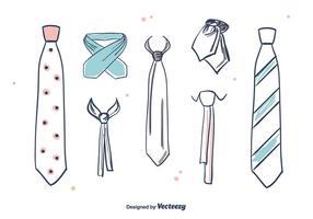 Vecteur cravate dessiné à la main