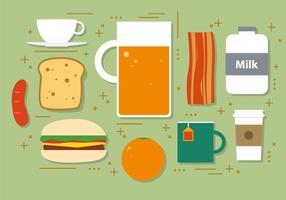 Plat Hamburger Illustration Vecteur