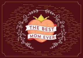 Jour de la mère de vecteur gratuit