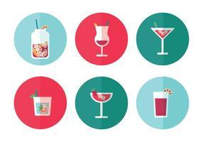 Vecteurs d'icônes de boissons vecteur