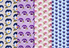 Pansies vector pattern