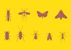 Ensemble d'insectes nuisibles