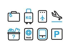 Icônes gratuites à double tonalité de l'aéroport vecteur