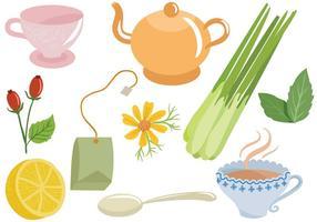 Vecteurs de thé gratuits vecteur