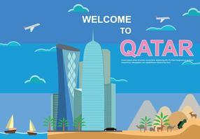 Illustration gratuite du Qatar vecteur