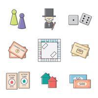 Vecteur de jeu de tableau de monopole gratuit