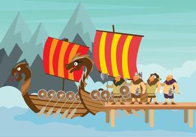 Illustration Viking Ship gratuite vecteur
