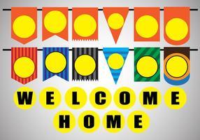 Vector Stock Décoration de Welcome Home Party