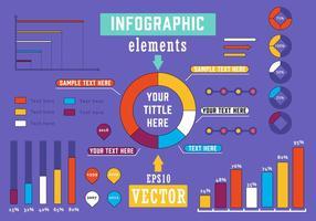 Illustration vectorielle d'éléments infographiques gratuits