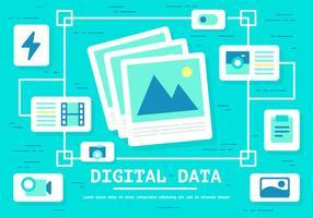 Vecteur de données numériques gratuit