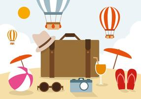 Illustration vectorielle de voyage gratuite vecteur