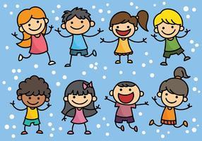 Vecteur libre d'icônes de jour pour enfants