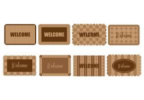 Bienvenue icônes Mat vecteur