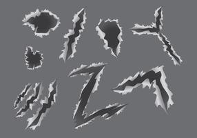 Vecteur d'icônes de déchirure de métal gratuit