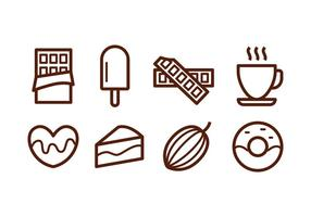 Icônes gratuites de chocolat vecteur