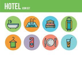 Icônes d'hôtel gratuites vecteur