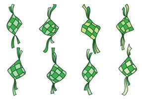Vecteur libre ketupat