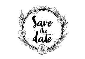 Libre sauver la date vecteur fleur pansy