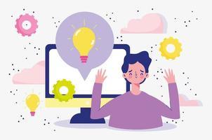 créativité de conversation informatique vecteur