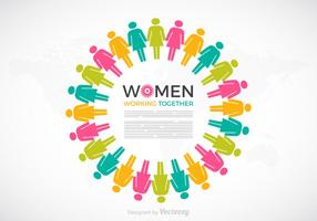 Femmes travaillant ensemble Concept vectoriel