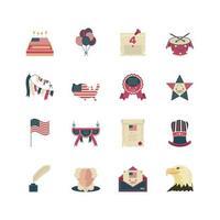 ensemble d & # 39; icônes de la fête de l & # 39; indépendance