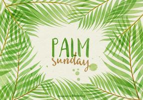 L'illustration vectorielle des dimanches des palmiers