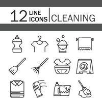 pack d'icônes de services de nettoyage de maison vecteur