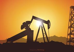 Illustration du champ de pétrole vectoriel