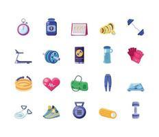 groupe d & # 39; icônes de remise en forme