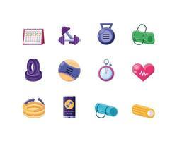 collection d'icônes de remise en forme