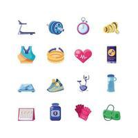 ensemble d'icônes de remise en forme
