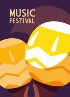 affiche du festival de musique avec des maracas vecteur