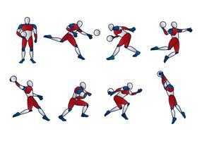 Vecteur mannequin de handball