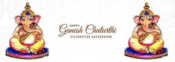 bannière du festival religieux indien ganesh chaturthi