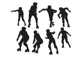 Free Roller Skate Silhouettes Vector