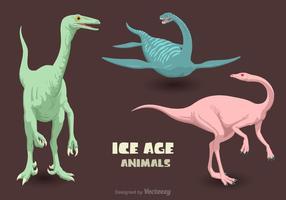 Vecteur gratuit âge de la glace animaux