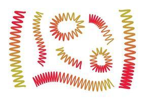 Ensemble de vecteur Slinky gratuit