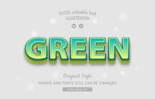 effet de texte dégradé vert vecteur