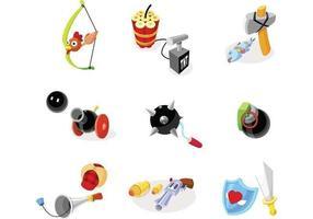 Pack d'éléments vectoriels armes