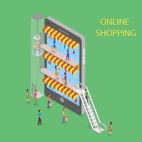 concept de centre commercial en ligne vecteur