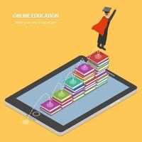 étapes de l'éducation en ligne vers le concept futur vecteur