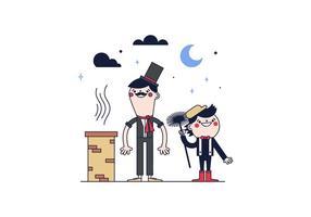 Vecteur de balayage de cheminée gratuit