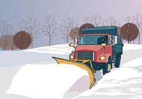 Camion à charrue à neige vecteur