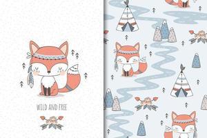 le renard roux est sauvage et libre vecteur
