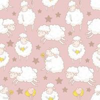 mouton blanc avec motif étoiles