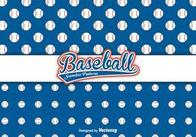 Motifs vectoriels de baseball vecteur