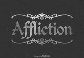 Logo libre vecteur d'affliction