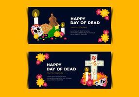 Vecteurs de la bannière du jour de mort